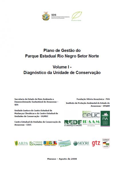 Parque Estadual Rio Negro Setor Norte - volume 1